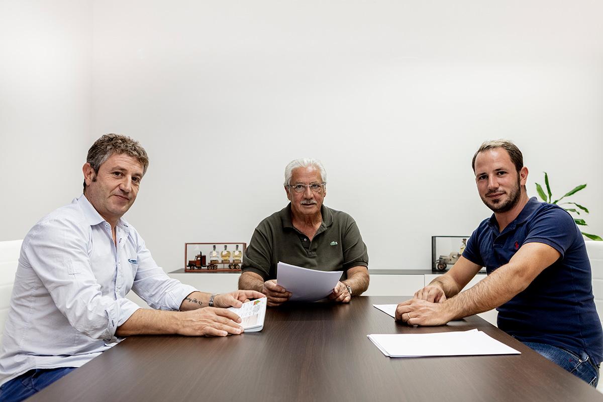 Di Simo Autotrasporti Paolo, Angelo e Gabriele Di Simo in sala riunioni
