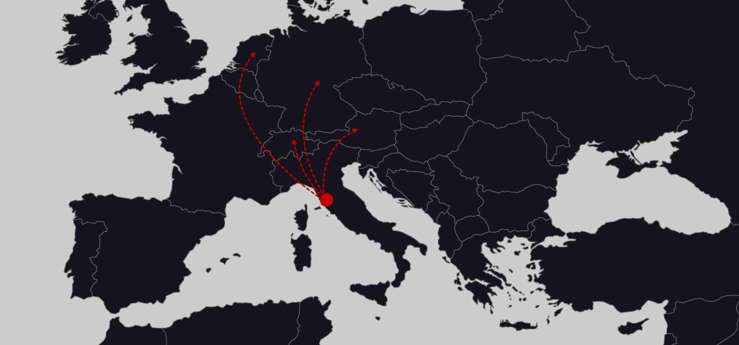 Di Simo Autotrasporti rotte europoee